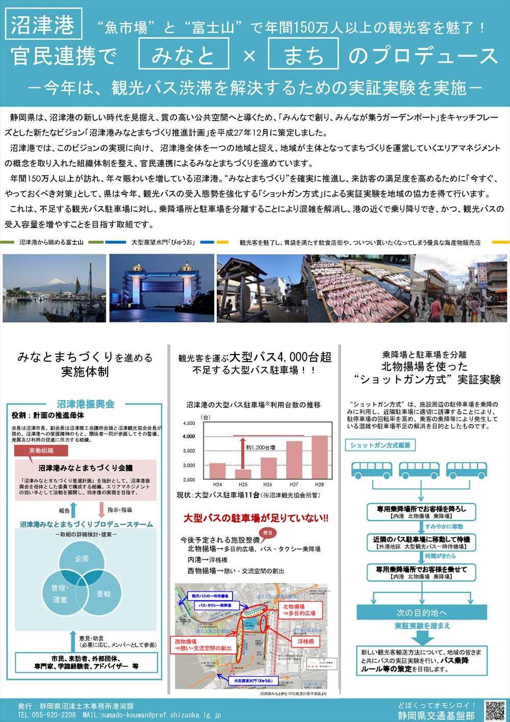 沼津港観光バス駐車場運用実証実験 ご協力のお願い